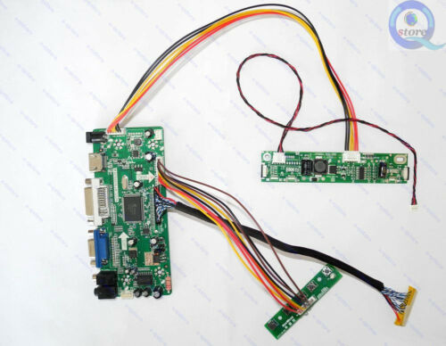 HDMI+DVI+VGA LCD Controller Board Kit LED Driver LVDS for 1920X1080 T215HVN01.0