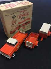 VINTAGE NYLINT U-HAUL TRUCK TRAILER PRESSED STEEL W/ ORIGINAL BOX # 4300