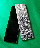 2 Pcs Black / White Layered .250 G-10 Knife Handle Material Scales G10 Micarta