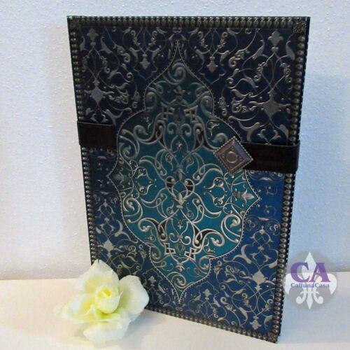 #10578 Notizbuch Tagebuch Prachteinband Orient Blau 21x30 Premium Marokko