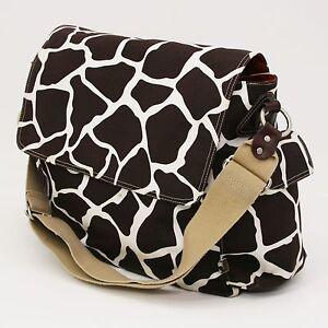 OiOi Australia Giraffe Print Baby Diaper Bag Unisex Brown ...