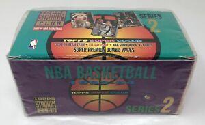 SEALED-1993-94-TOPPS-STADIUM-CLUB-NBA-Basketball-Series-2-JUMBO-BOX-Beam-Team