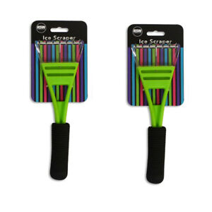 Car-Ice-Scraper-PAck-of-2-with-Comfort-Grip-Handle-in-Funky-Green