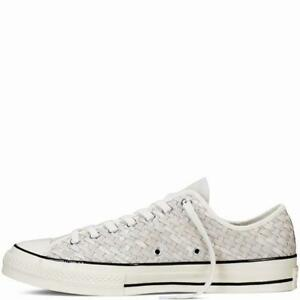 Details about Mens Chuck Taylor All Star '70 Woven Suede White Black Egret 151245C