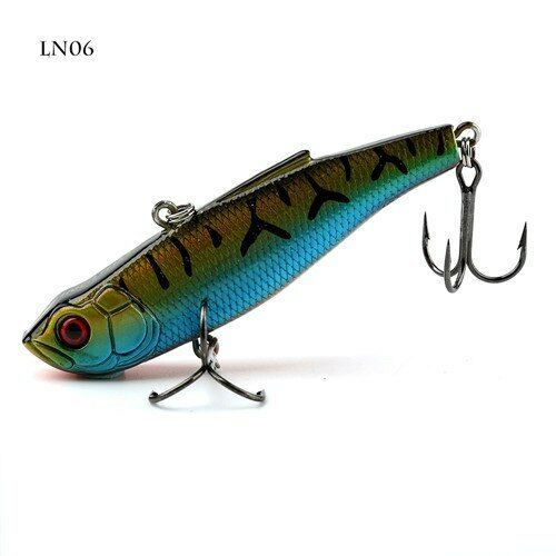 KINGDOM® Fishing Hard Lure 80mm 22g Sinking VIB Artificial Fishing Bait With VMC