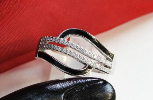 rhodiniert inkl Schmucketui !!! Echter 925 Silber  Damen RING mit Zirkonia