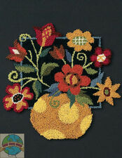 Punch Needle Kit ~ Dimensions Floral On Black Mixed Flowers in Vase #73222