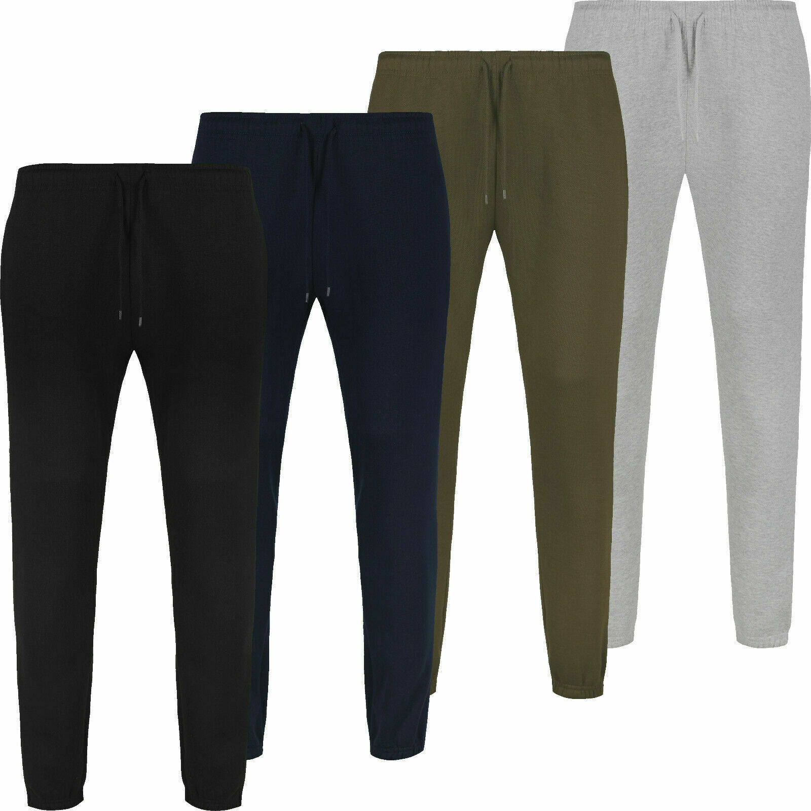 Brand New Men's elasticated waist and cuffed Casual Jogging bottoms S to 5XL
