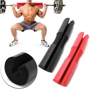 Image Is Loading Foam Padded Barbell Bar Cover Squat Pad Weight