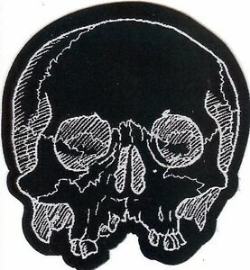 Jawless-Skull-Patch-Death-Black-Metal-Occult-Halloween-Zombie-Day-Of-The-Dead