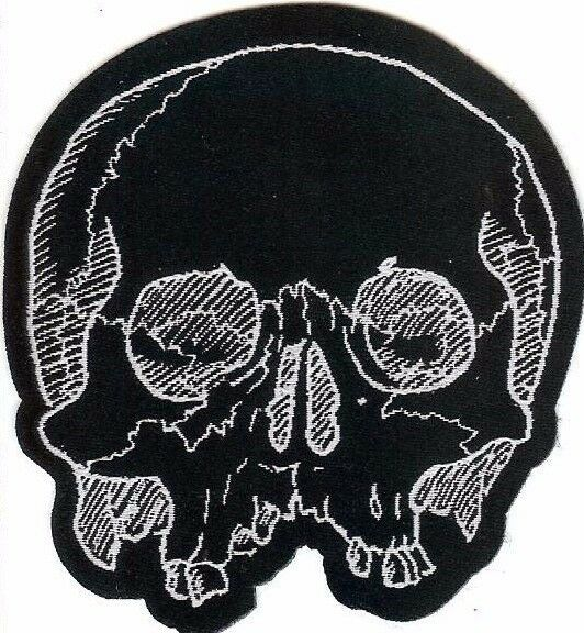 Jawless Skull Patch Death Black Metal Occult Halloween Zombie Day Of The Dead