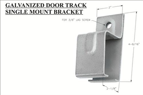Lot 30 Galvanized Single Barn Door Track Bracket Ceiling Hanger Wall Mount