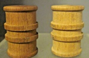 Set of 2 Wooden Barrels