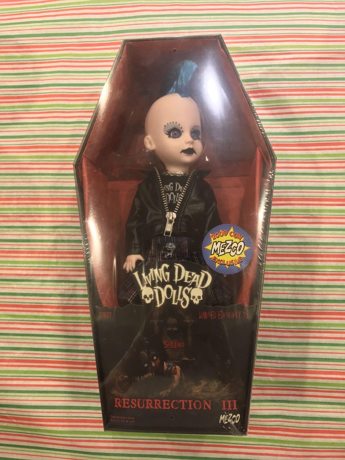 Mezco Toyz Living Dead Dolls resurrección III Variante Sheena Sellado Envío Gratis