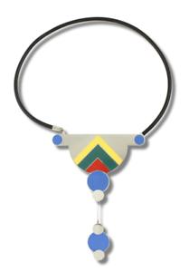 """Vintage ACME Studio """"Untitled"""" Necklace by Designer Milton Glaser NEW"""