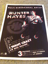 Hunter Hayes 2014 CMA Voter Request With 3 D Poster & Glasses