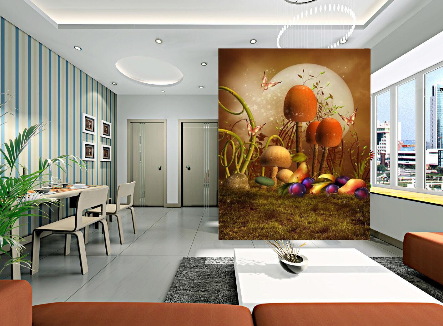 3D Champignon 413 Photo Papier Peint en Autocollant Murale Plafond Chambre Art