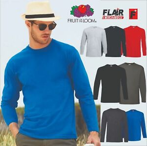 Fruit of the Loom Long Sleeve Valueweight tee Camisa para Hombre