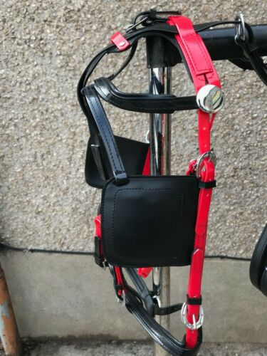 Quick Hitch Trotting Jogging Biothane Harness Pony or Cob Size RED with black