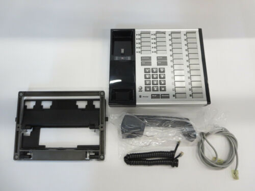 AT/&T Z7405 D01B003 DELUXE 34 BUTTON PHONE W//HANDSET AND METAL BASE
