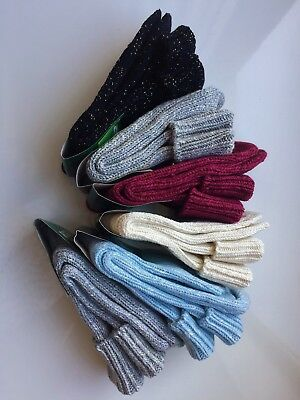 *6 Pairs Ladies Women Wool High Quality Chunky Thermal Socks Boot Size 4-7 Stqc