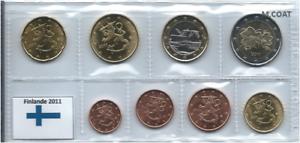 1x série UNC (8 pièces) 2€---1cent Finlande 2011 (neuves) sous pochette