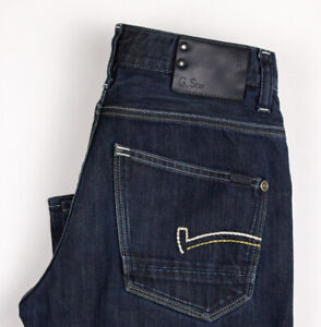 G-Star Brut Hommes Codeur Jeans Jambe Droite Taille W29 L32 ASZ584