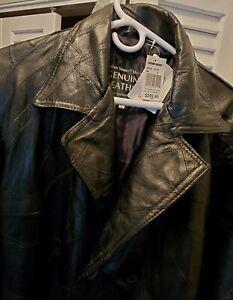 Giovanni-Navarre-Italian-Stone-Mens-genuine-leather-long-coat-SIZE-L-NWT