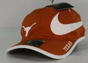 timeless design 85464 24a31 Image is loading Texas-Longhorns-Nike-NCAA-Big-Swoosh-Adjustable-Running-