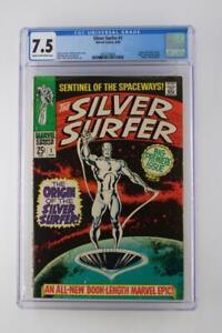 Silver-Surfer-1-CGC-7-5-VF-Marvel-1968-ORIGINS-of-Silver-Surfer-amp-Watcher