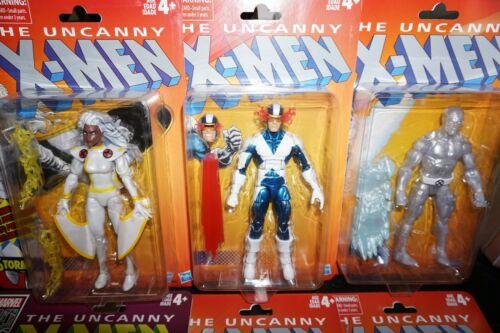 "Marvel Legends 6/"" X-Men Retro Vintage Storm Cyclops Ice Man Wolverine En Stock"