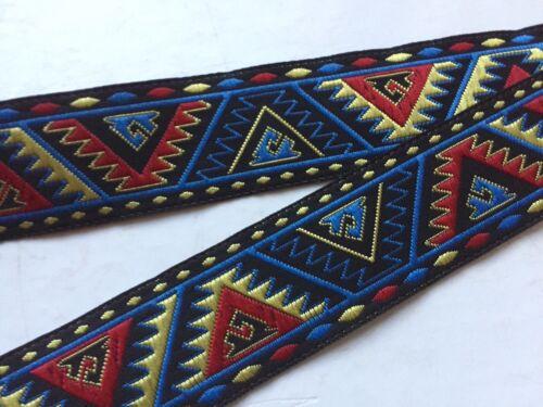 Traumschöne Borte,Mexiko,Schwarz,Rot,Gelb,Blau,24mm,lfm
