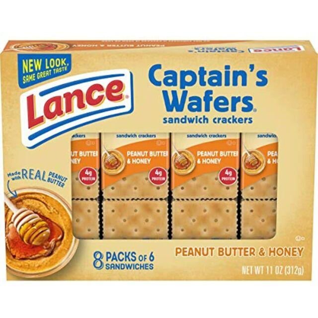 Lance Honey on Captain Wafers Sandwich Crackers, Peanut Butter