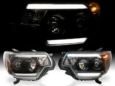 af0a442bd48f 12-15 Toyota Tacoma Optic LED Plasma Light Bar DRL Black Projector  Headlights