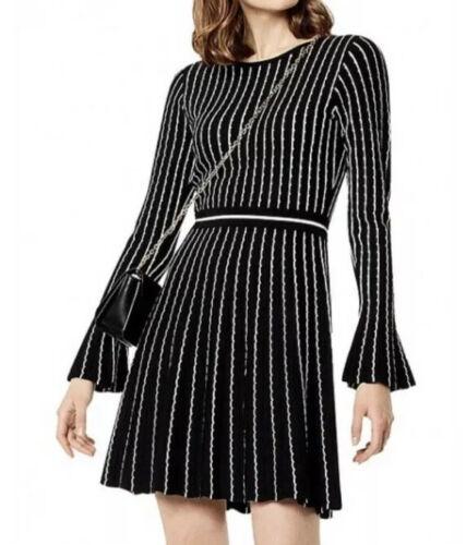 Karen Millen Pinstriped Knit Dress Sz Medium M