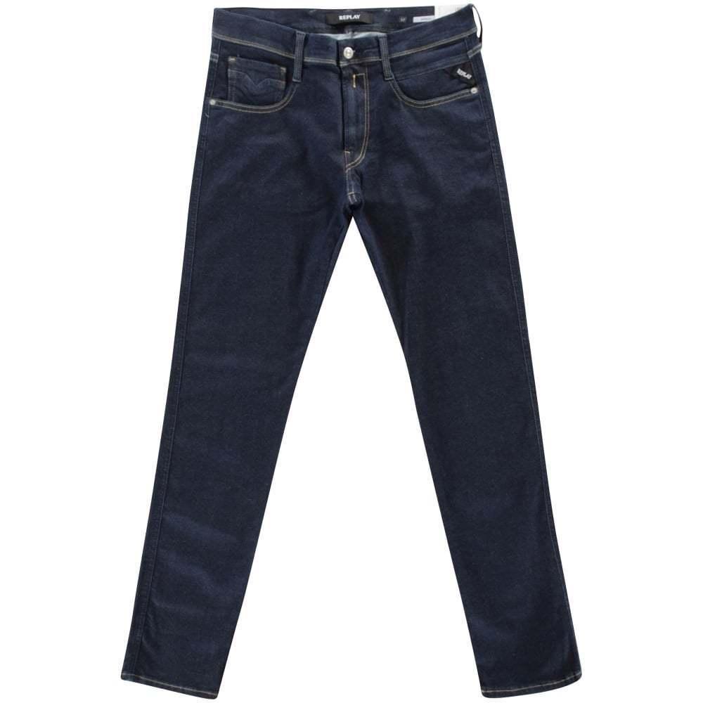 Replay Anbass Hyperflex Slim Fit Dark bluee Stretch Jeans M914 30x30 RRP.