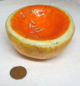 Grapefruit-Paper-Mache-Mexican-Vegetable-Fruit-Vintage-Decor-Folk-Art
