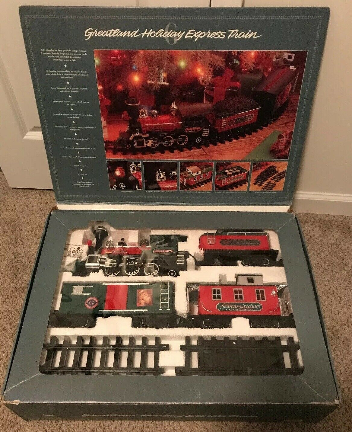 Vtg New Bright Greatland Holiday Express G Scale Model Toy Train 1993