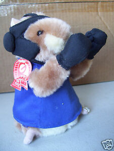 Rare-Gemmy-Industries-2002-Singing-Dancing-Boxer-Gopher-7-034-Tall-Good-Condition