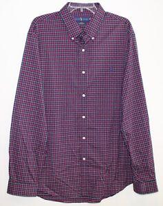 Polo-Ralph-Lauren-Mens-Red-Blue-Plaid-Slim-Fit-Button-Front-Shirt-NWT-2XL-XXL