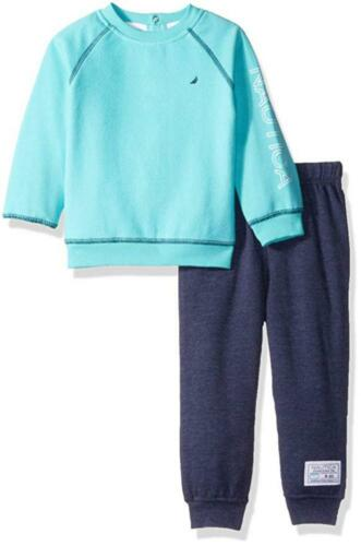 Nautica Infant Boys Aqua /& Blue 2pc Jog Pant Set Size 3//6M 6//9M 12M 18M 24M $50