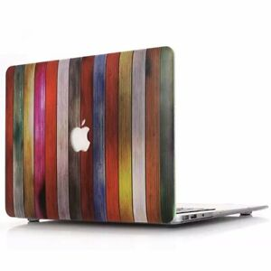 "Rainbow Wood Matte Hard Case Shell for Apple MacBook Air Pro 13/'/' 13.3/"" Retina"
