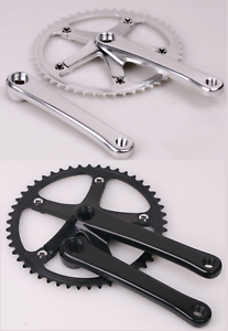 52T 152mm Classic//Vintage Crank Set for Fixed Gear,Single Speed,Fixie,Track