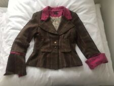 Timothy Foxx Tweed Blazer Jacket Ladies Size 12 Preppy