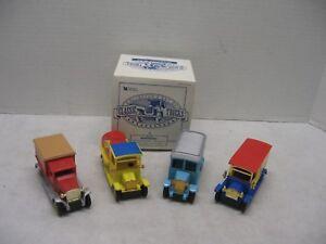 Reader's Digest Classic Trucks Sunoco Wonder Ambulance Newspaper Set of 4 Box