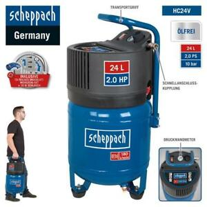 Scheppach-Druckluft-Kompressor-24L-Luftkompressor-10bar-2PS-stehend-HC24V