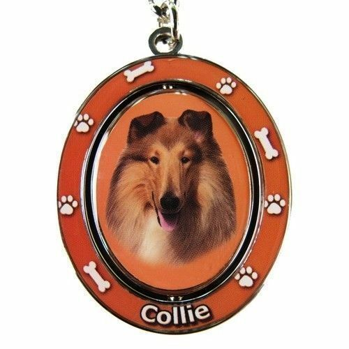 """COLLIE /""""Spinning/"""" Key Chain Rough Coat"""