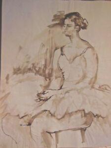 Brillant Jacqueline Oblin - Corbin - Lavis Original,danseuse - Non SignÉ - N°15