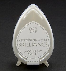 Stempelkissen-Tinte-DewDrop-Brilliance-moonlight-white-weiss-Mini-Tsukineko-BD080