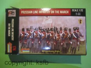 1-72-Strelets-174-Napoleon-Preussen-Linien-Infanterie-marschierend-Prussians